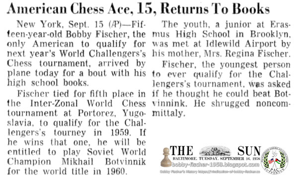 American Chess Ace, 15, Returns To Books
