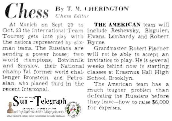 Chess by T.M. Cherington - International Team Tourney