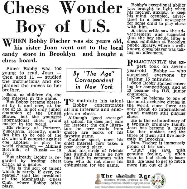 Chess Wonder Boy of U.S.