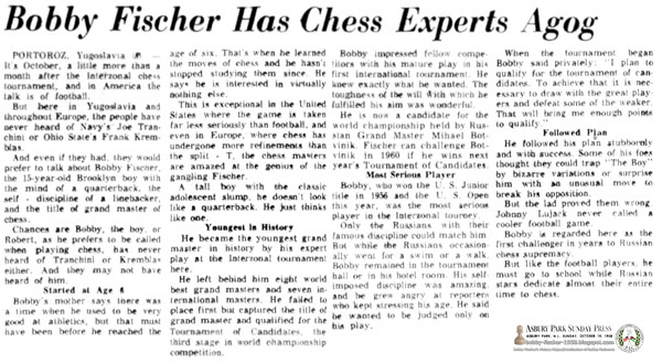 Bobby Fischer Has Chess Experts Agog