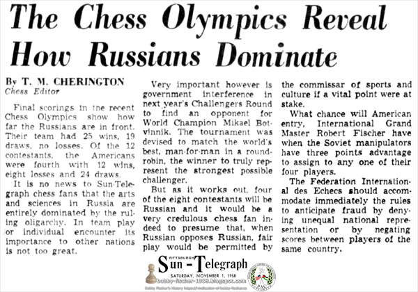 The Chess Olympics Reveal How Russians Dominate