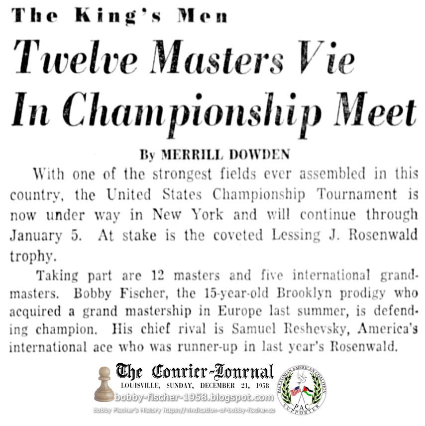 Twelve Masters Vie In Championship Meet