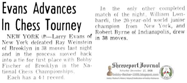 Evans Advances In Chess Tourney