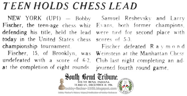 Teen Holds Chess Lead