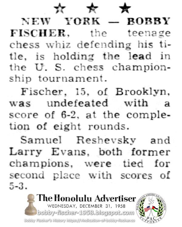 New York - Bobby Fischer