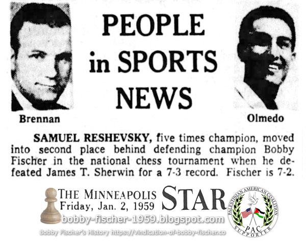 People In Sports News: Samuel Reshevsky vs. Bobby Fischer