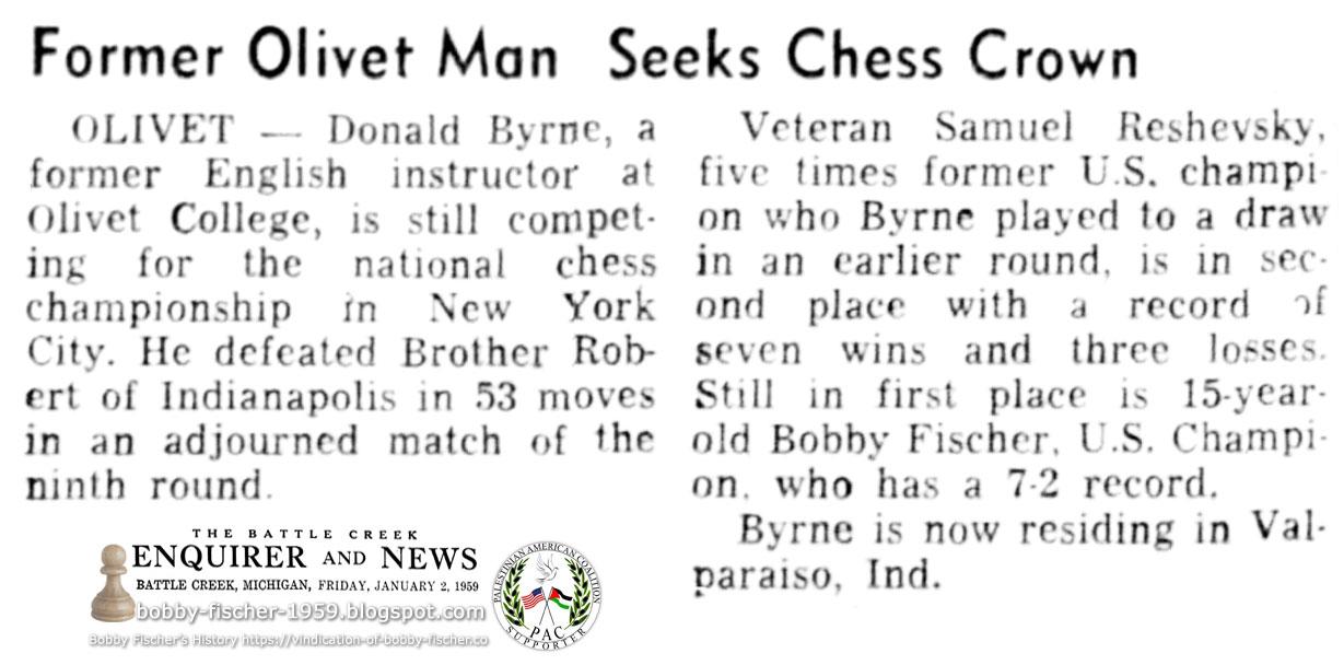Former Olivet Man Seeks Chess Crown
