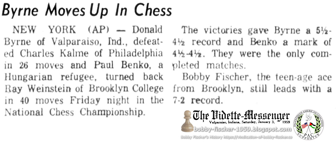 Byrne Moves Up In Chess