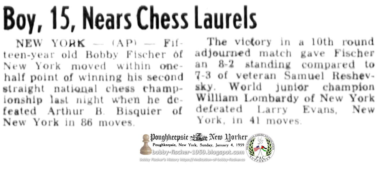 Boy, 15, Nears Chess Laurels