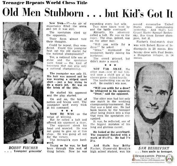 Teenager Repeats World Chess Title: Old Men Stubborn … but Kid's Got It