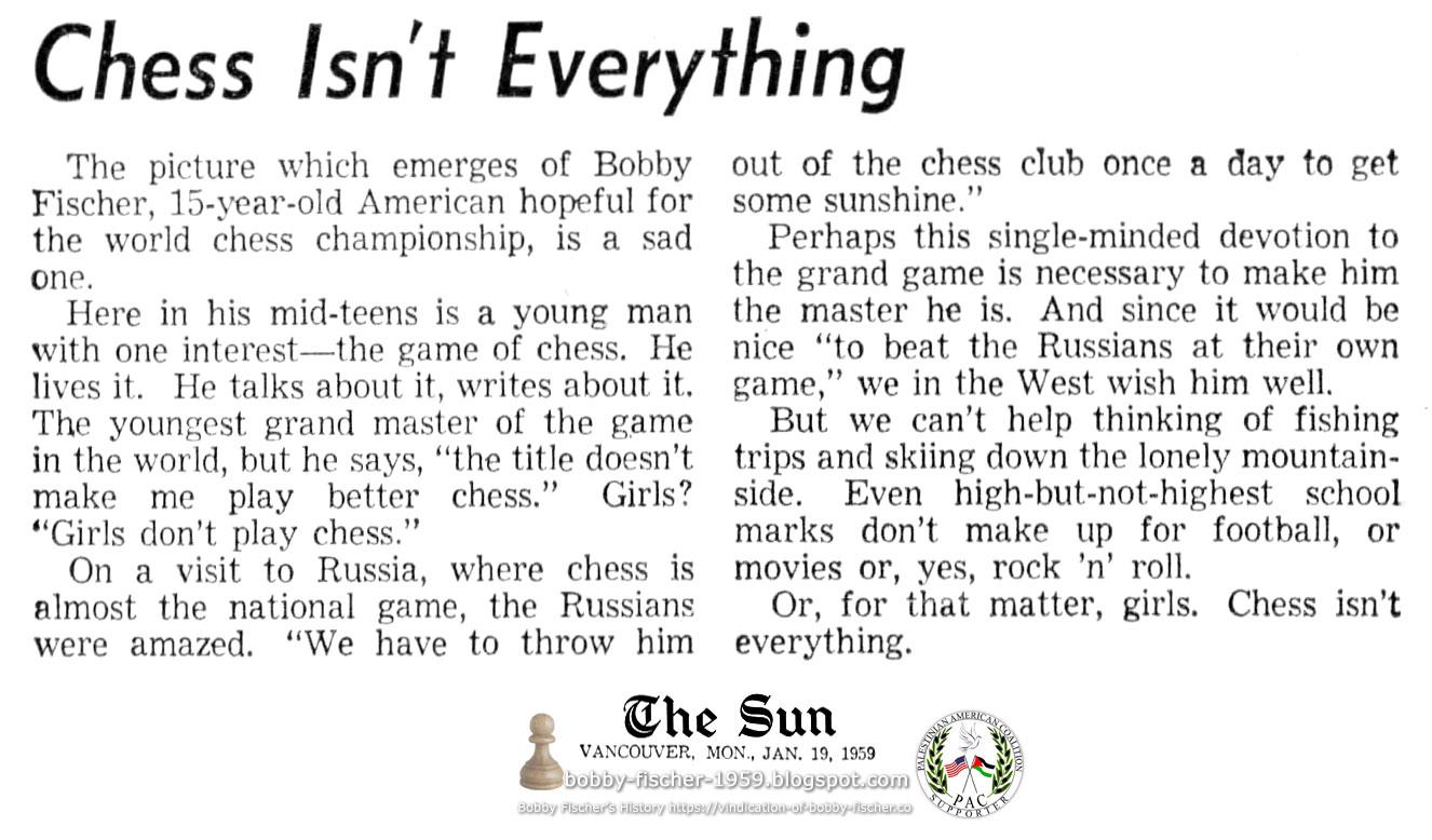 Chess Isn't Everything