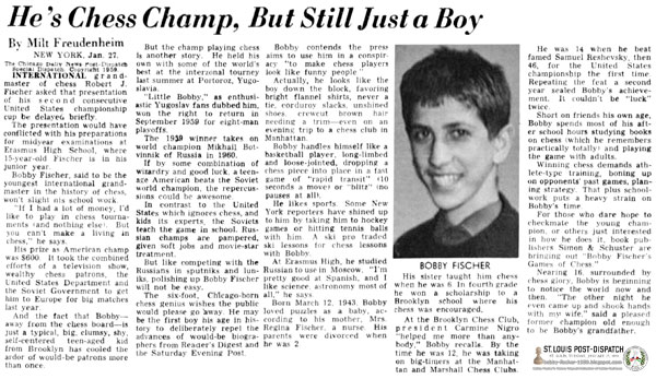 He's Chess Champ, But Still Just a Boy