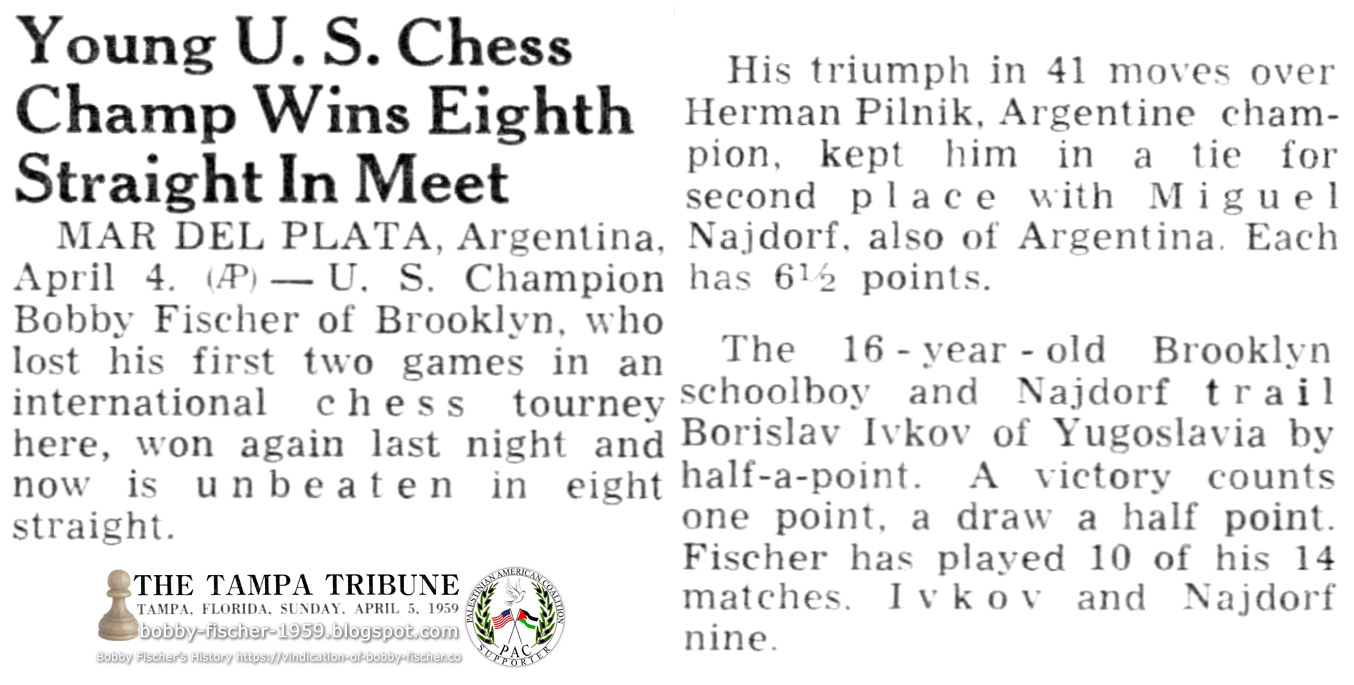 Young U.S. Chess Champ Wins Eighth Straight In Meet