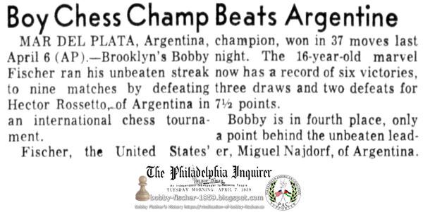 Boy Chess Champ Beats Argentine
