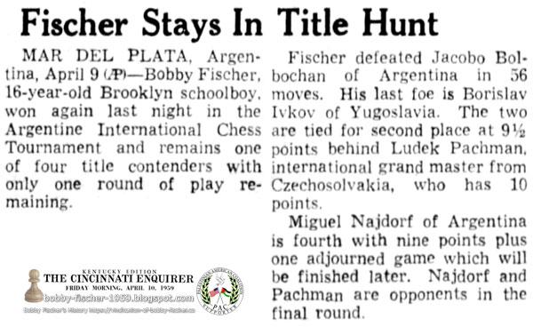 Fischer Stays In Title Hunt