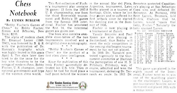 Bobby Fischer Spanks Bent Larsen