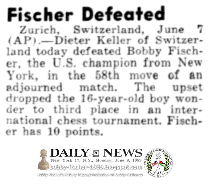 Fischer Defeated