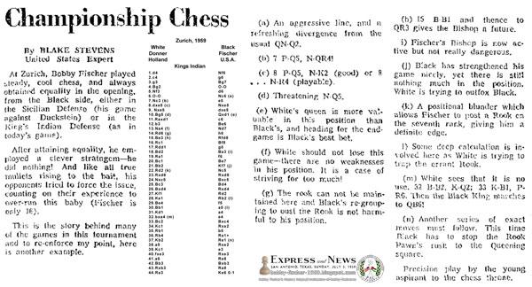 Bobby Fischer at Zurich