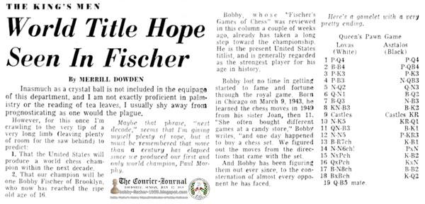 World Title Hope Seen In Fischer