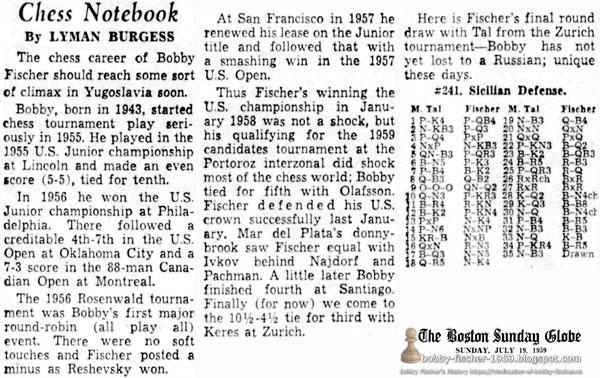 Chess Career of Bobby Fischer