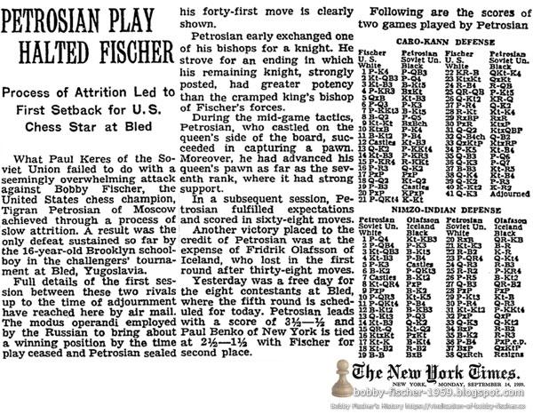 Petrosian Play Halted Fischer