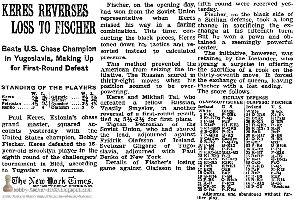 Bobby Fischer - Chess: 1959