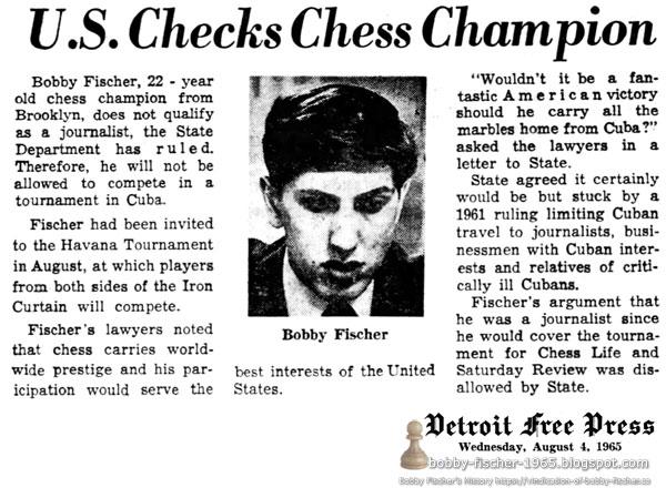 U.S. Checks Chess Champion