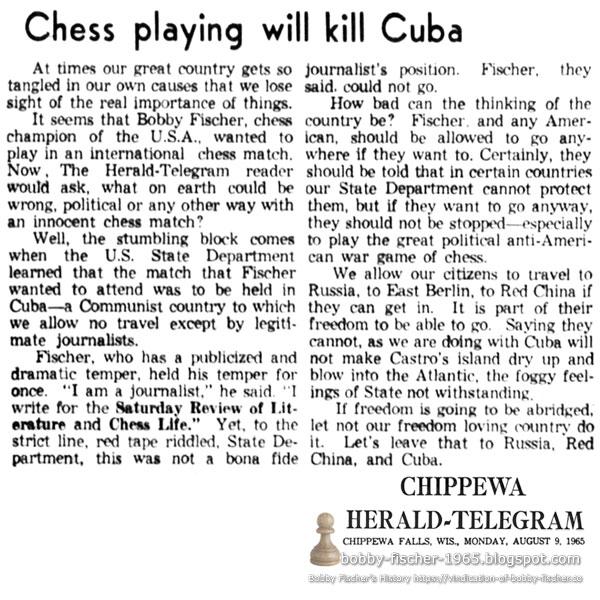 Chess Playing Will Kill Cuba