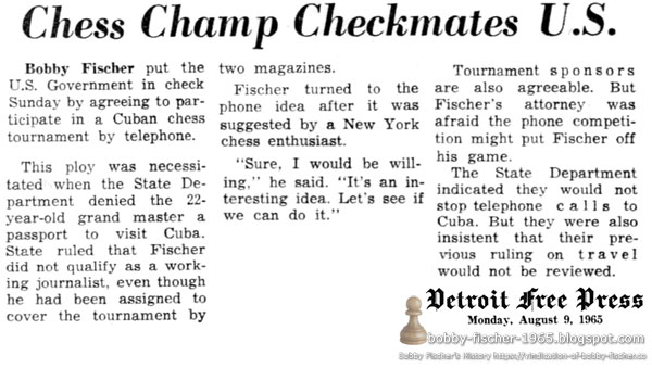 Chess Champ Checkmates U.S.