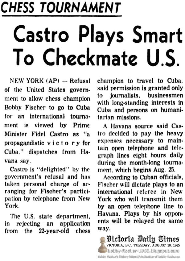 Castro Plays Smart To Checkmate U.S.