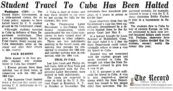 Student Travel To Cuba Has Been Halted