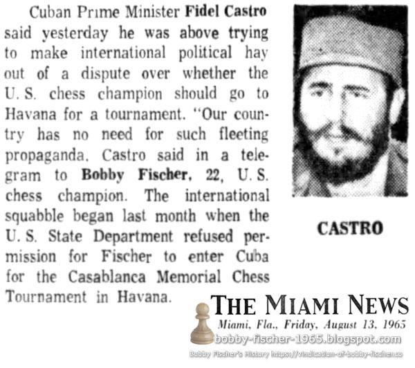 Cuban Prime Minister Fidel Castro