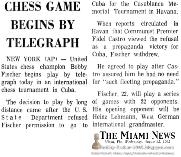 Chess Game Begins By Telegraph