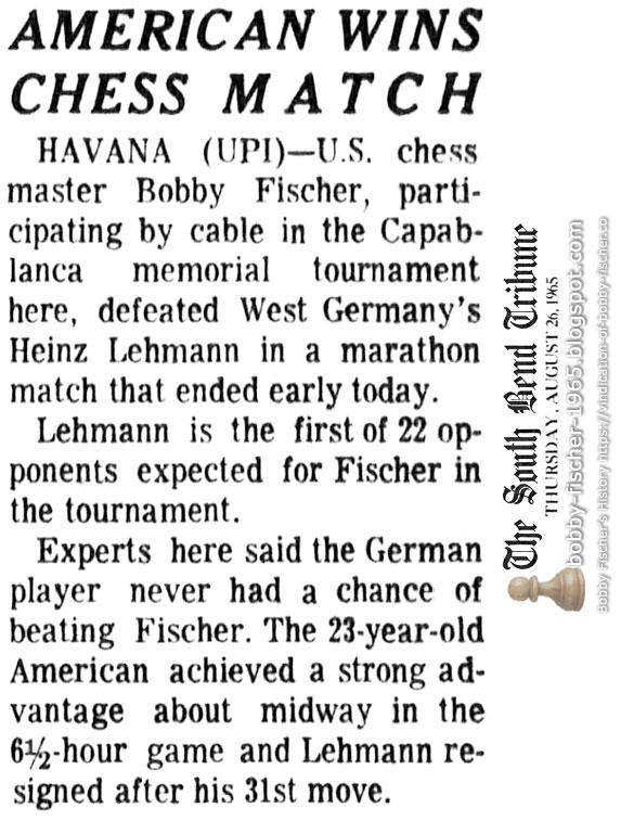 American Wins Chess Match