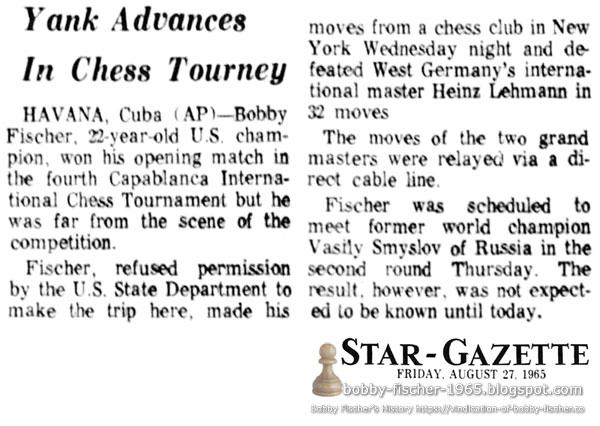Yank Advances In Chess Tourney