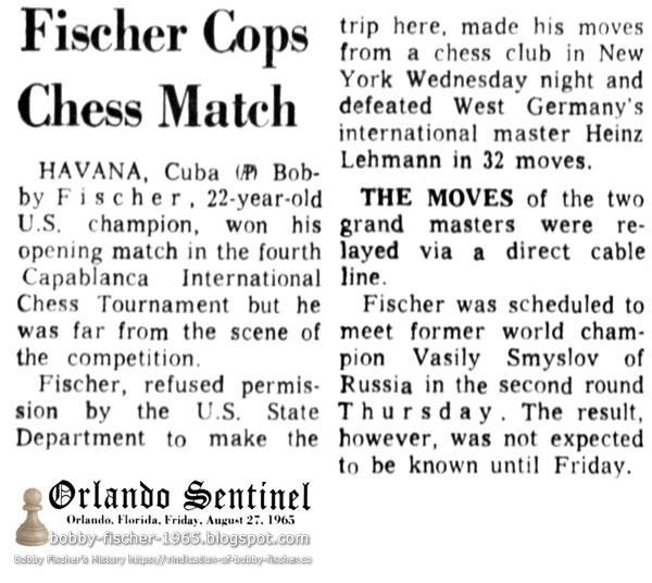 Fischer Cops Chess Match