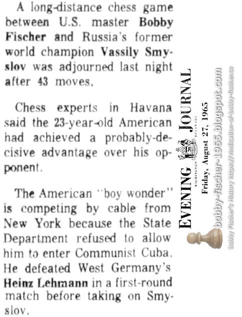 Bobby Fischer vs. Vassily Smyslov
