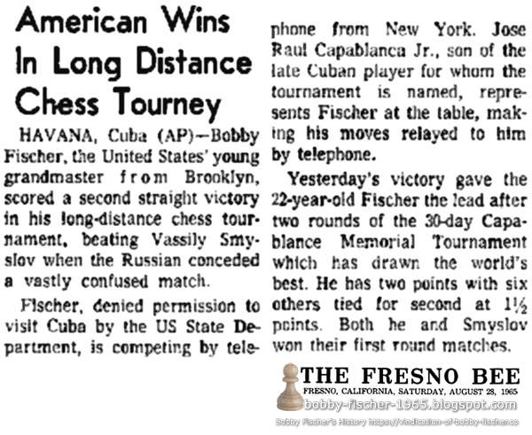 American Wins In Long Distance Chess Tourney
