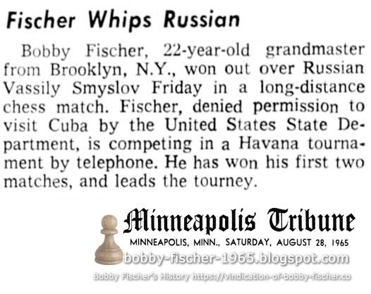 Fischer Whips Russian