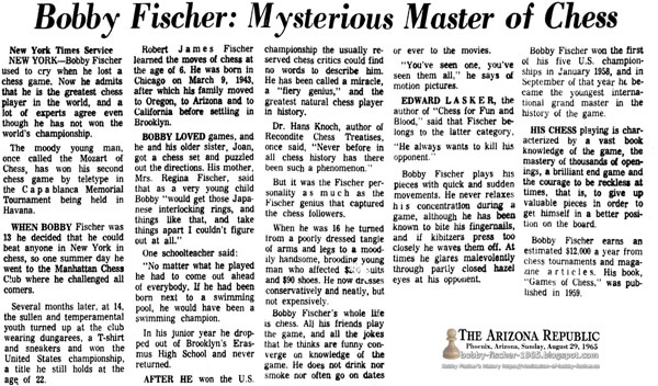 Bobby Fischer: Mysterious Master of Chess