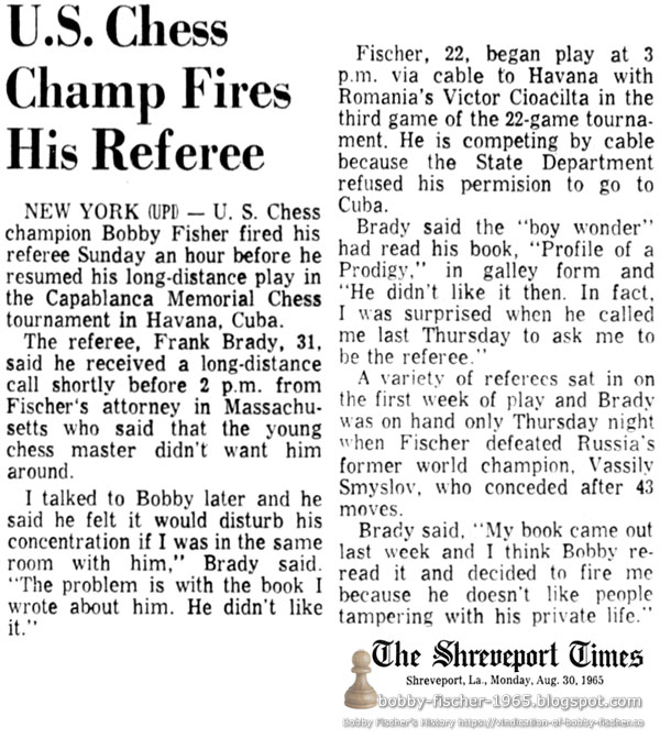 U.S. Chess Champ Fires His Referee
