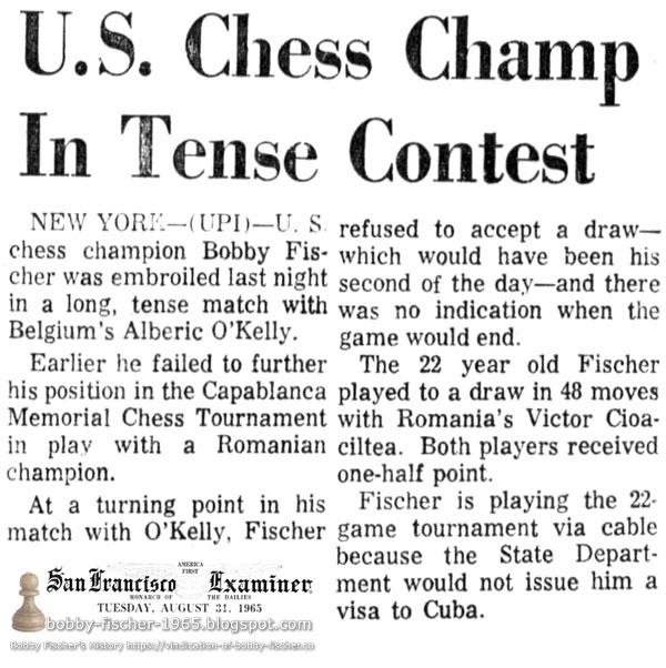 U.S. Chess Champ In Tense Contest