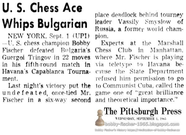 U.S. Chess Ace Whips Bulgarian