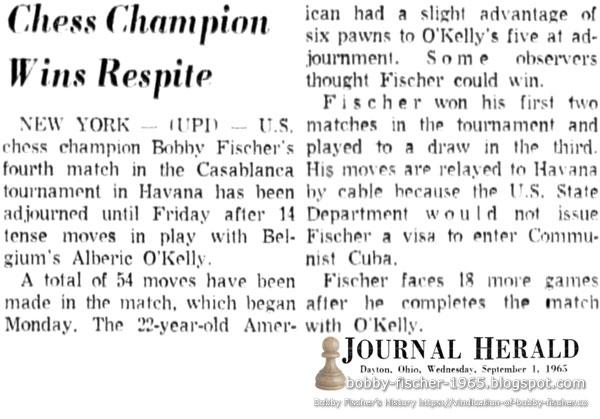 Chess Champion Wins Respite