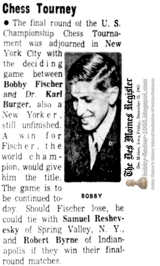 Bobby Fischer - Chess: 1965