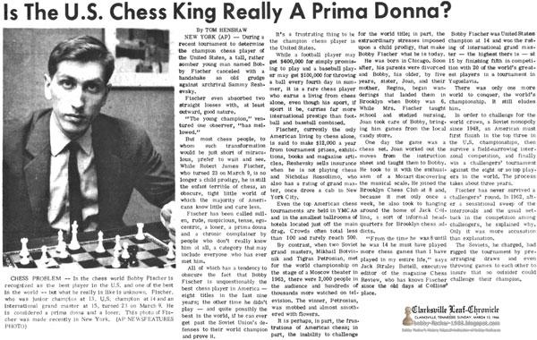 Bobby Fischer - Chess: 1966
