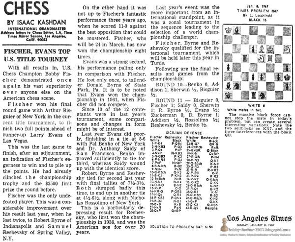 Fischer, Evans Top U.S. Title Tourney