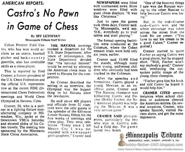 Castro's No Pawn in Game of Chess