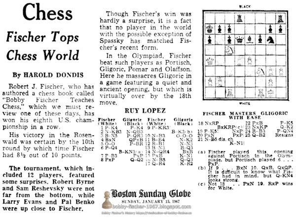 Chess: Fischer Tops Chess World
