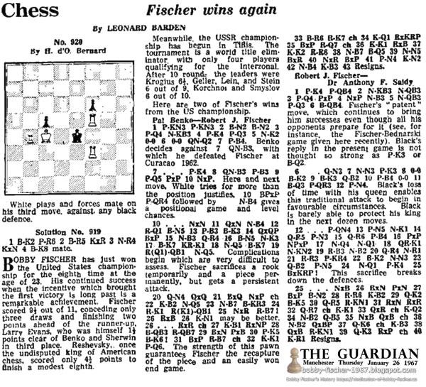 Chess: Fischer Wins Again